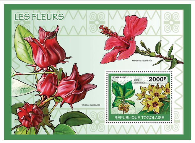 Flowers, ( Cola acuminata ) - Issue of Togo postage stamps