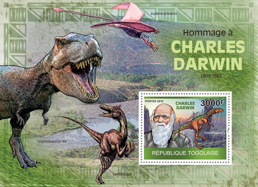 Tribute to Charles Darwin (1809  1882) - Issue of Togo postage stamps