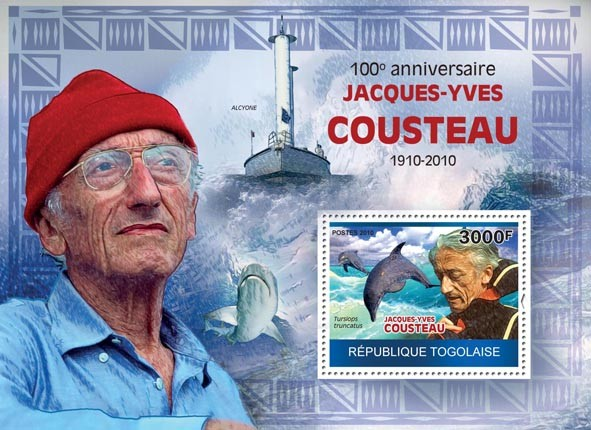 100th Anniversaire of Jacques-Yves Cousteau,  (1910-1997) - Issue of Togo postage stamps