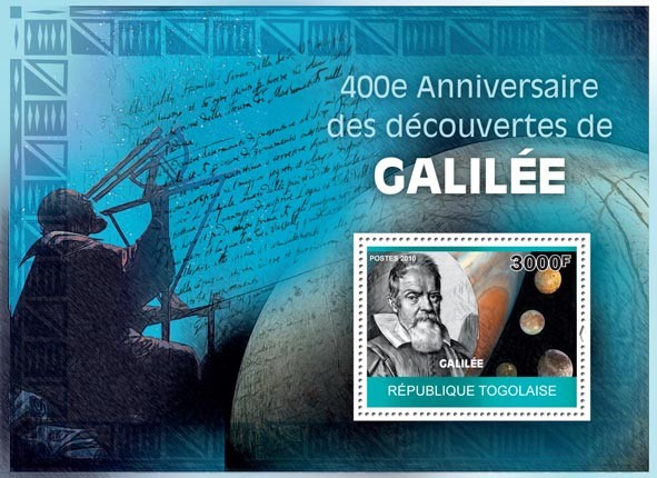 400th Anniversary of Galileo's Discoveries. - Issue of Togo postage stamps