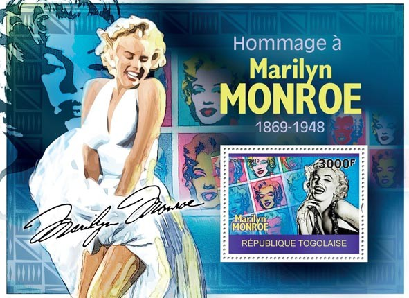 Tribute to Marilyn Monroe - Issue of Togo postage stamps