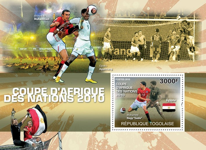 "Africa Football Cup of Nations 2010, (Mohamed Nagy ""Gedo"") - Issue of Togo postage stamps"
