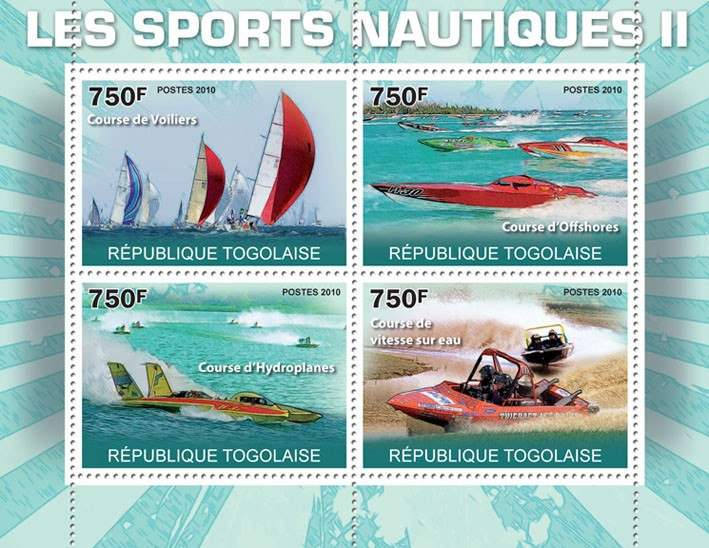 Water Sports II, - Issue of Togo postage stamps