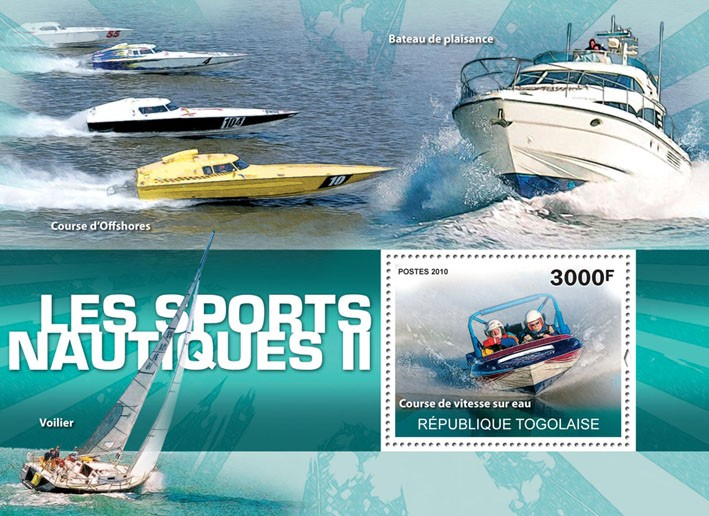 Water Sports II, (Speed Water Race). - Issue of Togo postage stamps