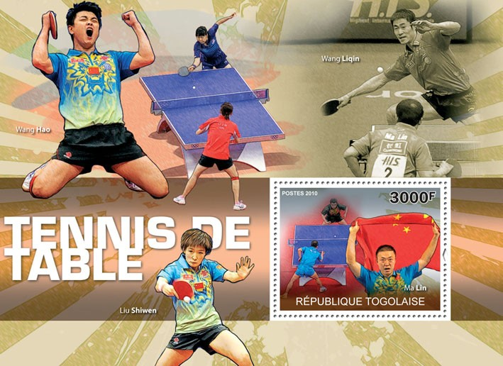 Table Tennis, (Ma Linn). - Issue of Togo postage stamps
