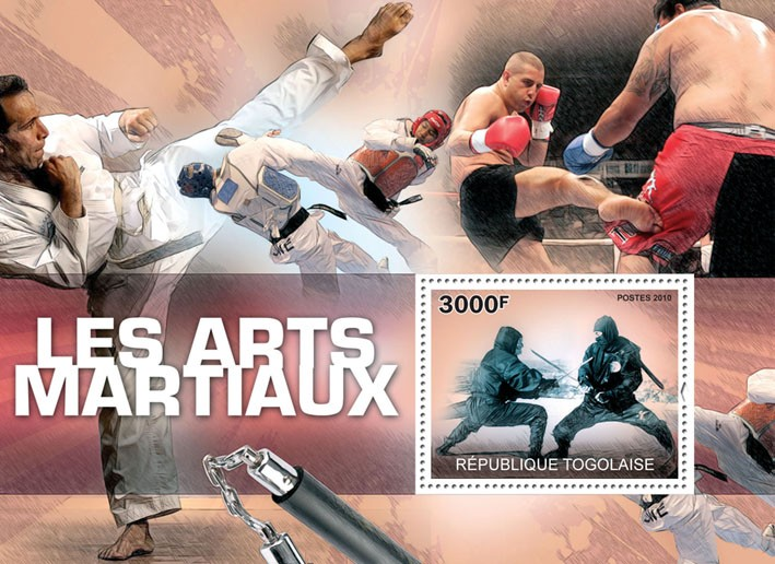 Martial Arts. - Issue of Togo postage stamps
