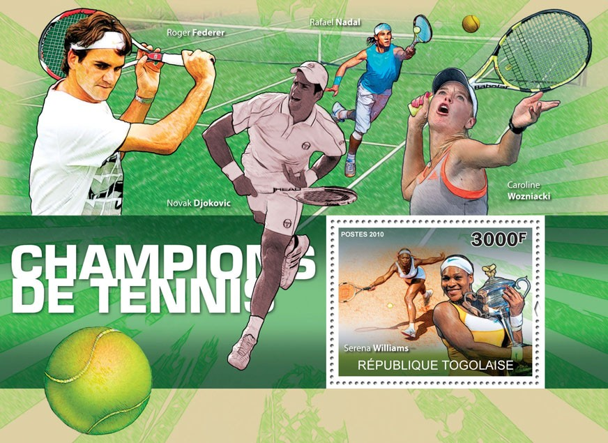 Champions of Lawn Tennis, (Serena Williams). - Issue of Togo postage stamps