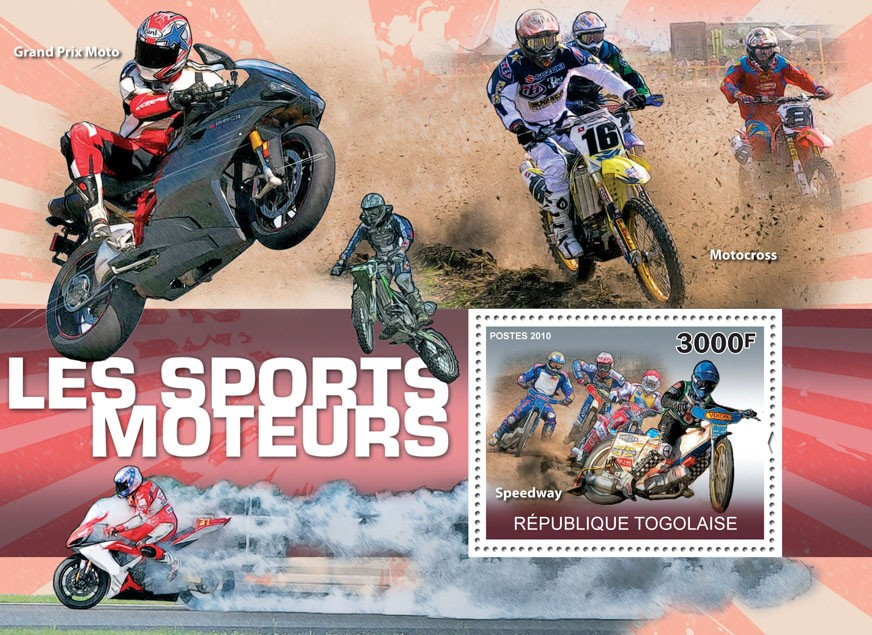 Motorsport, (Speedway). - Issue of Togo postage stamps