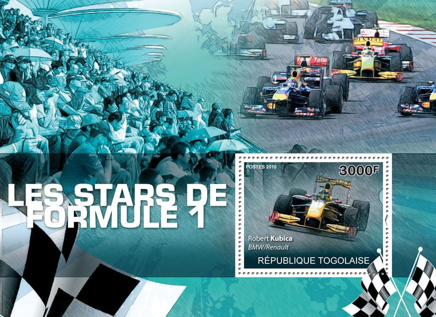 Formula 1 Stars, (R.Kubica). - Issue of Togo postage stamps