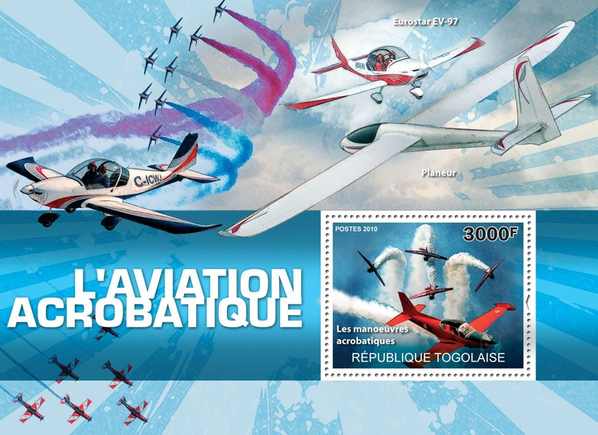 Aviation Acrobatics, (Acrobatic Maneuvers). - Issue of Togo postage stamps