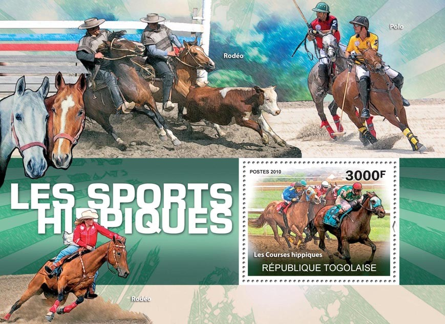 Equine Sports, (Horses). - Issue of Togo postage stamps