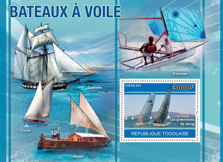 Sailing Ships. - Issue of Togo postage stamps