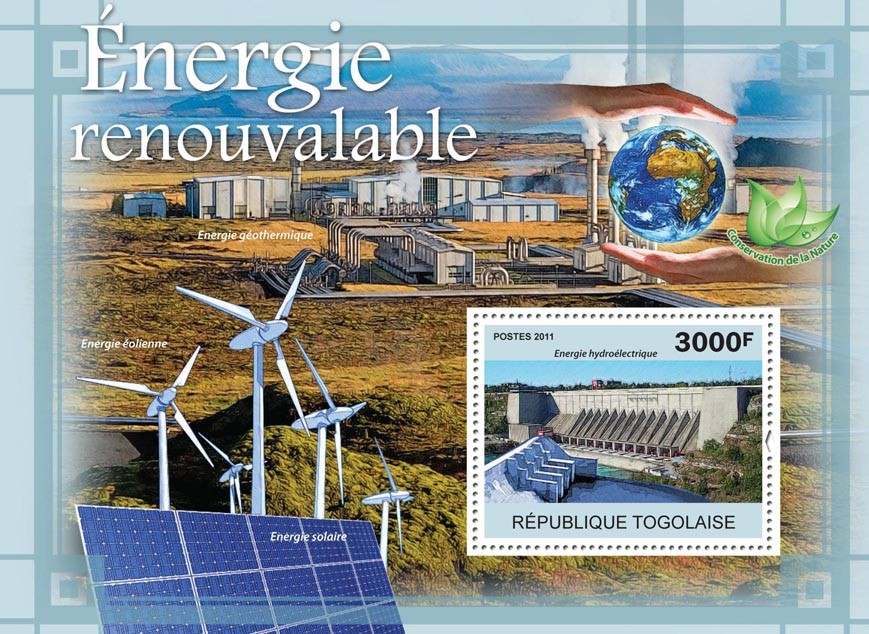 Renewable Energy. - Issue of Togo postage stamps