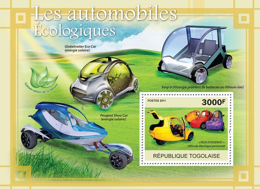 Ecological Cars. - Issue of Togo postage stamps