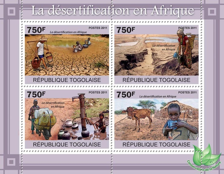 Desertification in Africa. - Issue of Togo postage stamps