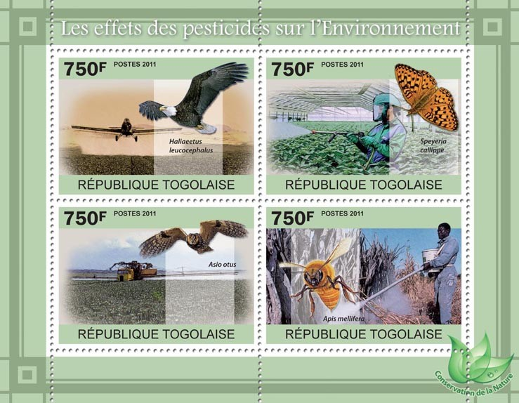 The Effects of Pesticides on the Environment. - Issue of Togo postage stamps