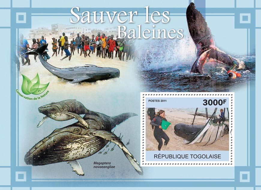 Save the Whales. - Issue of Togo postage stamps