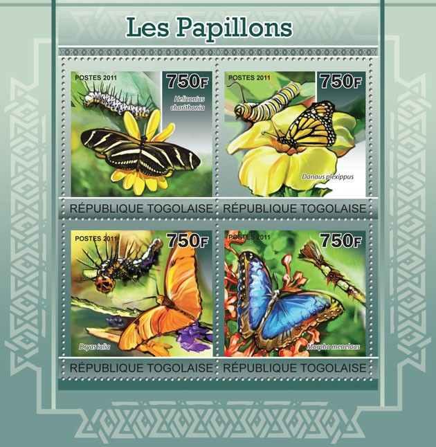 Butterflies. - Issue of Togo postage stamps