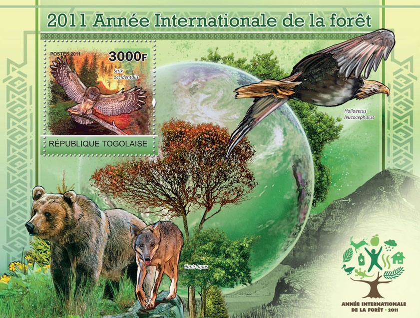 2011 International Year of the forest - Issue of Togo postage stamps