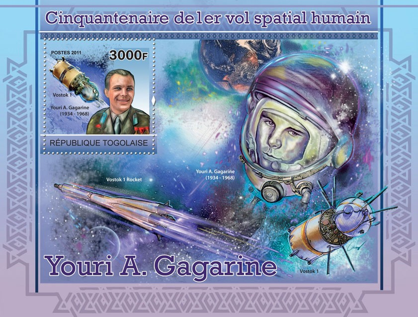 Fiftieth anniversary of human spaceflight - Issue of Togo postage stamps