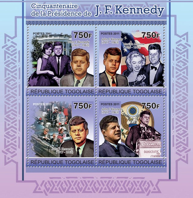 Fiftieth Anniversary of the Presidency of J. F. Kennedy - Issue of Togo postage stamps