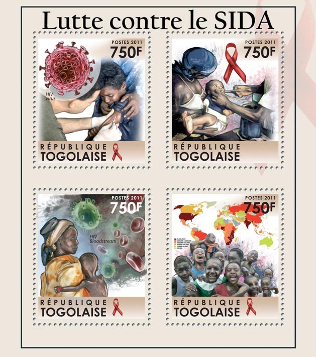 Fight against AIDS. - Issue of Togo postage stamps