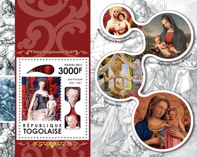 Religious Holidays Christmas - Issue of Togo postage stamps
