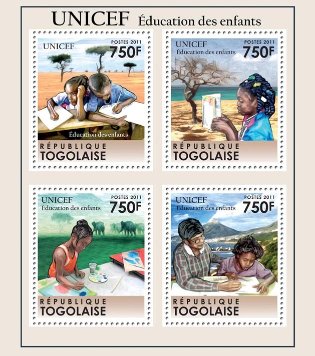 UNICEF Education for Children - Issue of Togo postage stamps