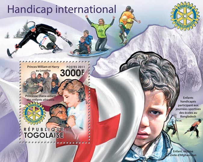 Handicap International - Issue of Togo postage stamps