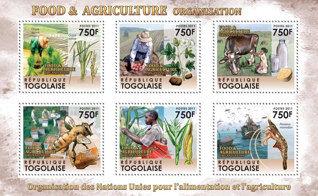Food & Agriculture Organization - Issue of Togo postage stamps