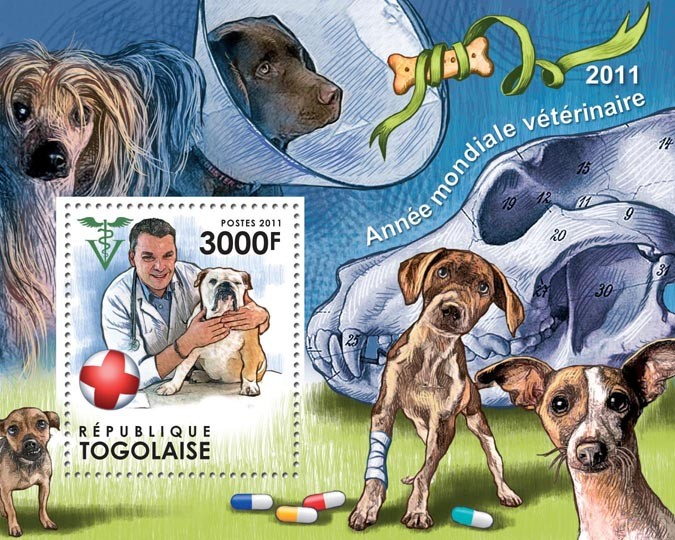 World Veterinary Year 2011 - Issue of Togo postage stamps