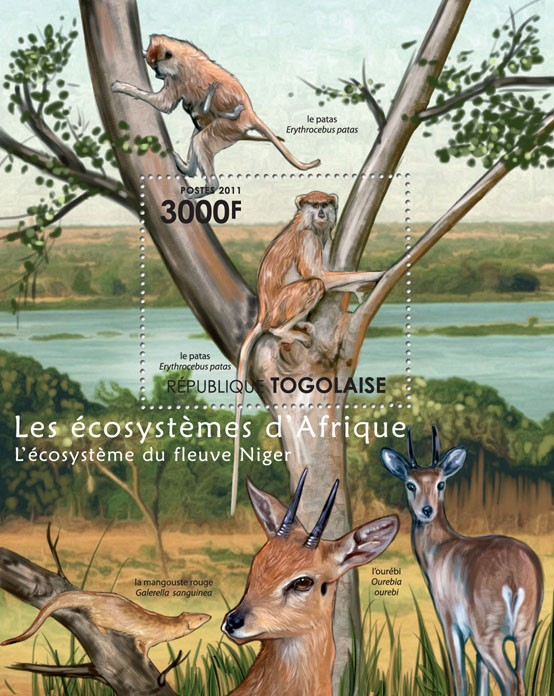 The Nyger River Ecosystem. - Issue of Togo postage stamps