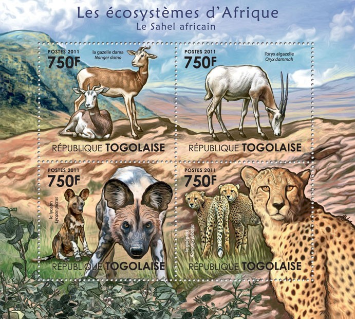 The African Sahel. - Issue of Togo postage stamps