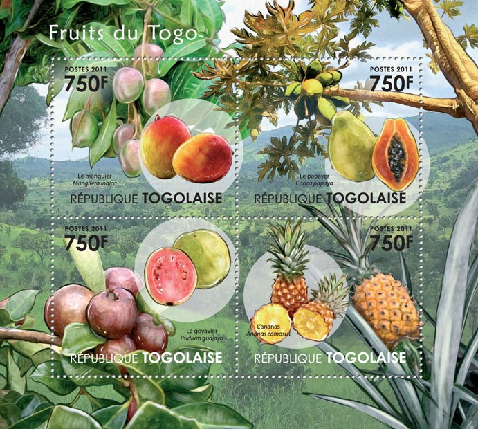 Fruits of Togo. - Issue of Togo postage stamps