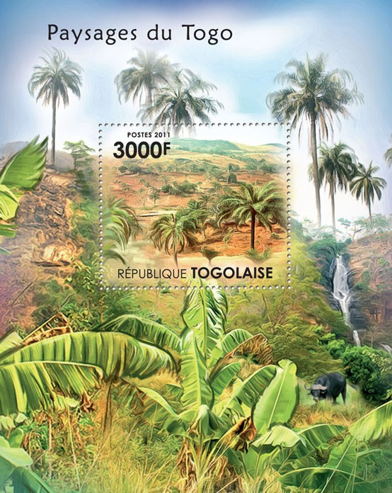 Landscapes of Togo. - Issue of Togo postage stamps