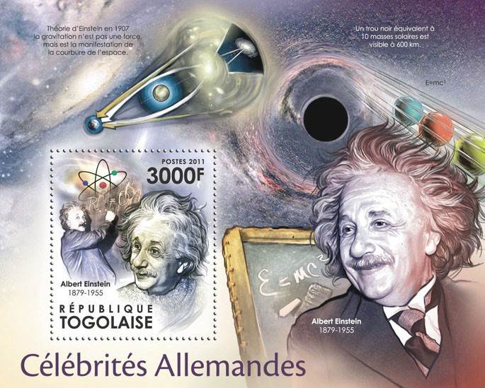 German Celebrities, (Albert Enstein). - Issue of Togo postage stamps
