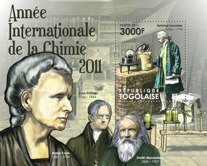 International Year of Chemistry 2011, (Antoine Lavoisier). - Issue of Togo postage stamps