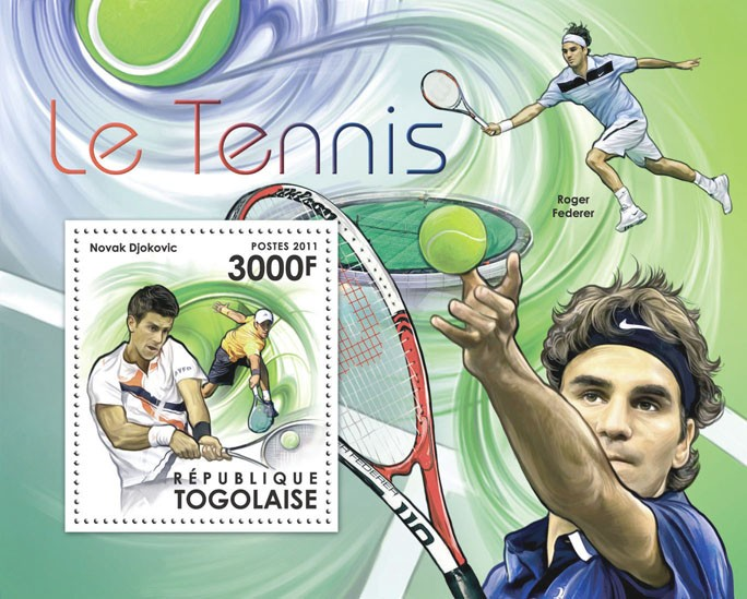 Lawn Tennis, (Novak Djokovic). - Issue of Togo postage stamps