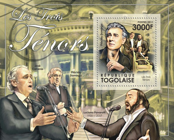 The Three Tenors, (Pl??cido Doming) - Issue of Togo postage stamps