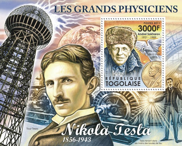 Great Physicists, (Andrei Sakharov). - Issue of Togo postage stamps