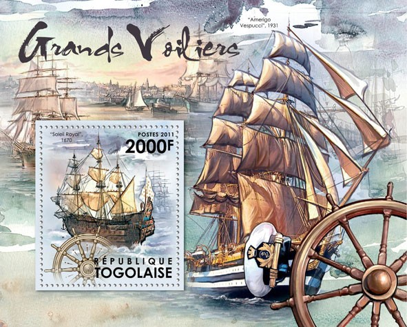 Tall Ships, (Solei Royal 1670). - Issue of Togo postage stamps
