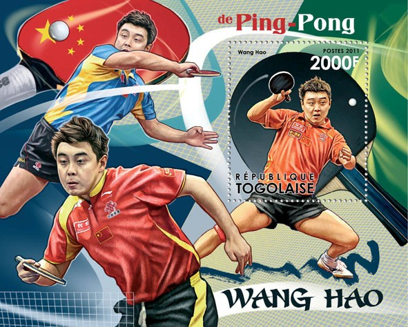 Table Tennis, (Wang Hao). - Issue of Togo postage stamps