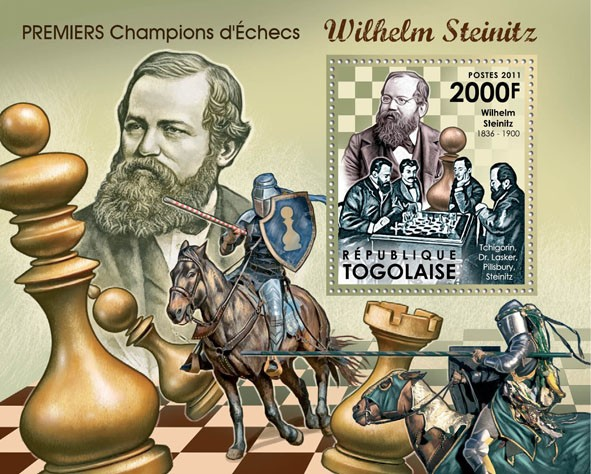 First Champions of Chess, (Wilhelm Steinitz). - Issue of Togo postage stamps