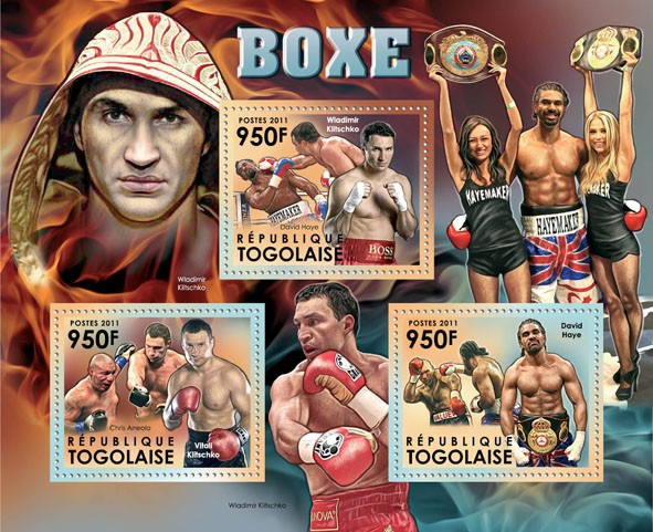 Boxing, (Wladimir Klitschko, Chris Arreola, Vitaly Klitschko, David Haye). - Issue of Togo postage stamps