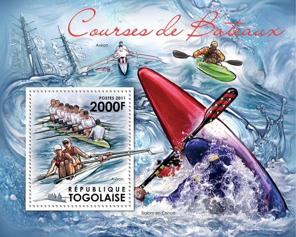 Boat Races. - Issue of Togo postage stamps