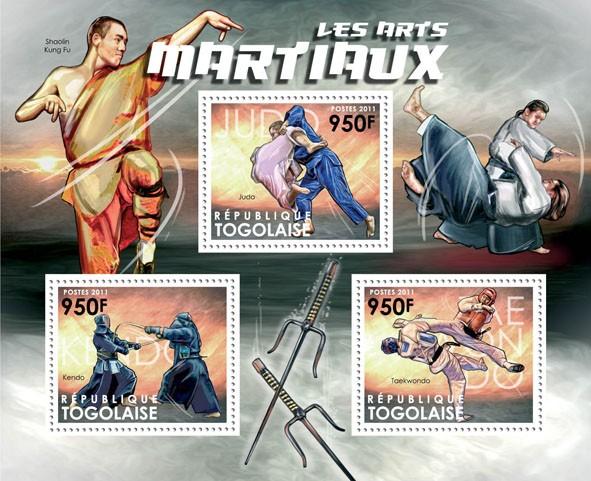Martial Arts, (Judo, Kendo, Taekwondo). - Issue of Togo postage stamps