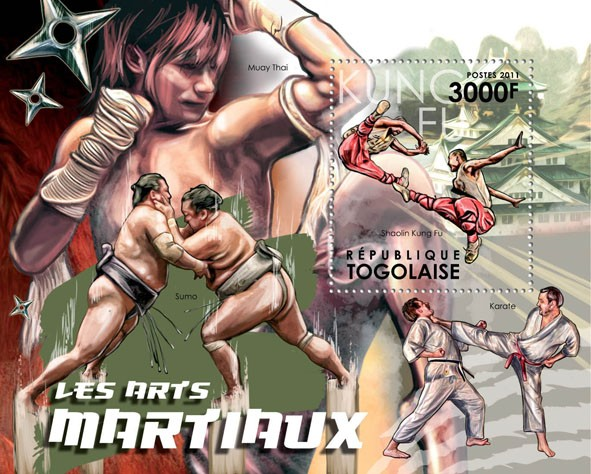 Martial Arts, (Shaolin Kung Fu). - Issue of Togo postage stamps