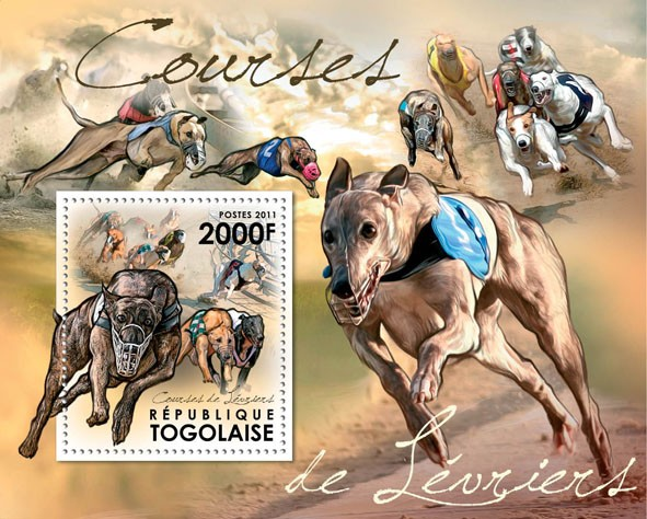Racing Greyhounds. - Issue of Togo postage stamps