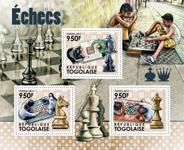 Chess. - Issue of Togo postage stamps