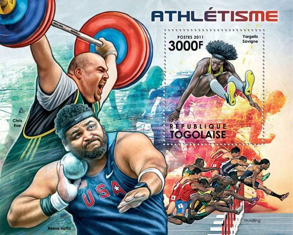 Athletics, (Yargelis Savigne). - Issue of Togo postage stamps